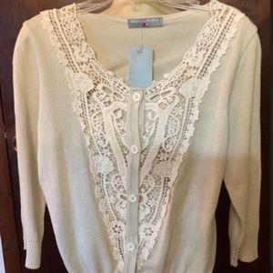 Lace & Knit Sweater by Dressing De Jola